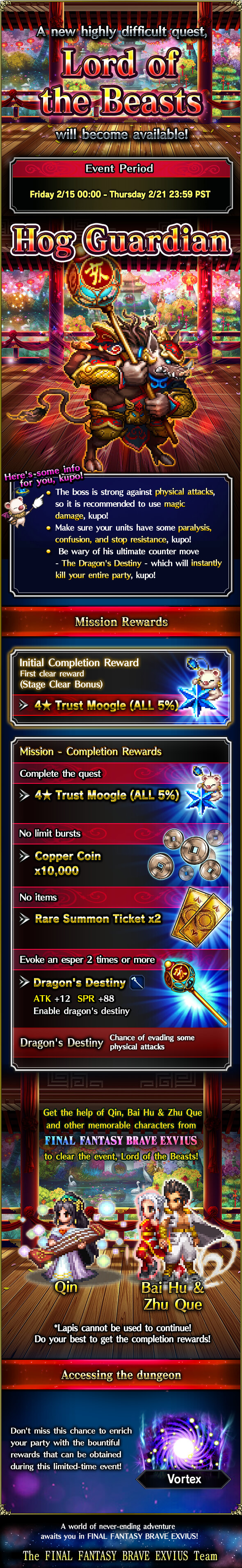 Lord of the Beasts -- Early Preview : FFBraveExvius