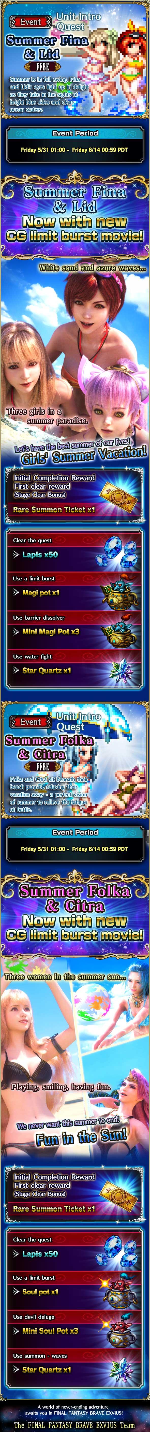 News - Summer Fina & Lid, Summer Folka & Citra   Unit Intro