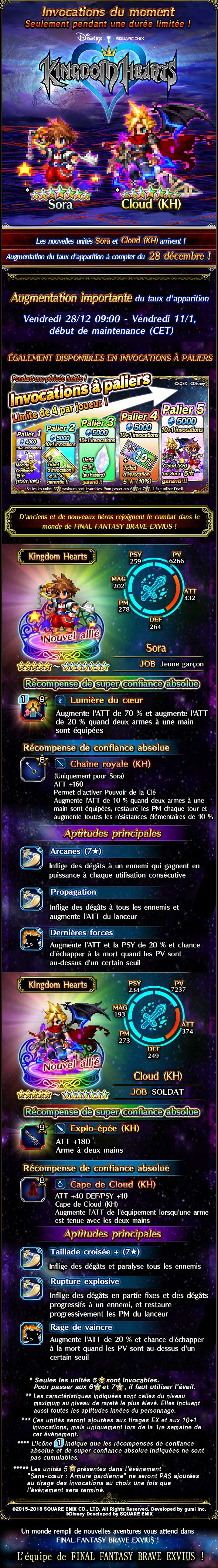 Invocations du moment - Collab Kingdom Hearts - du 28/12/18 au 11/01/19 20181226KHFeaturedSummon