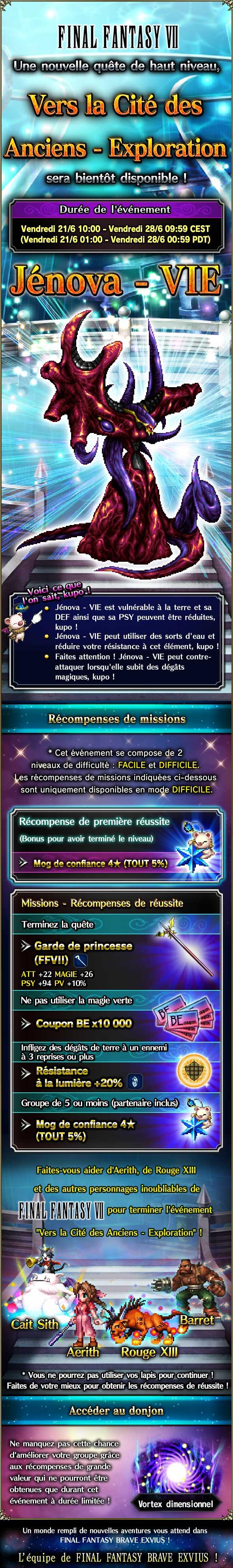 Trial MK FFVII - Vers la Cité des Anciens (Exploration) - du 21/06 au 28/06/19 20190618ForgottenCapitalExploration