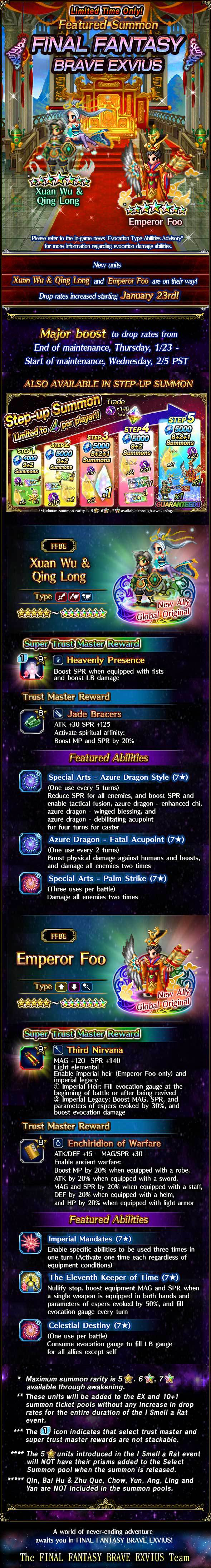 Invocations du moment, boutique d'échange et tickets 5★ garantie - FFBE (XWQL/E.Foo) - du 23/01 au 06/02/20 20200123FFBECNYFeaturedSummon