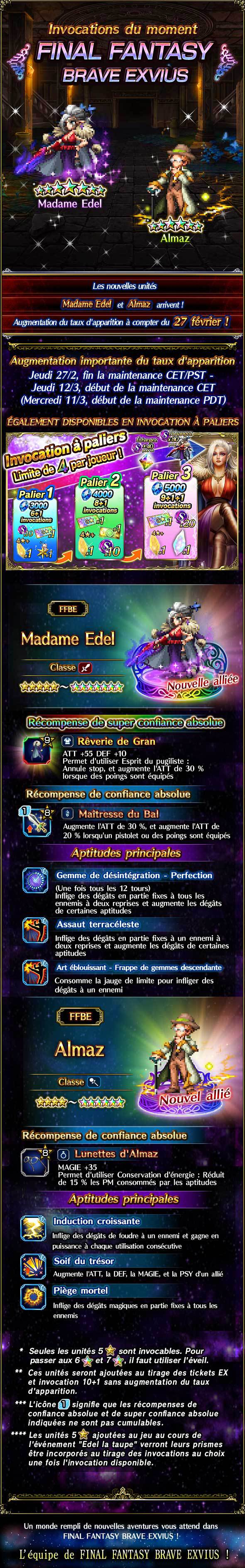 Invocations du moment, boutique d'échange et tickets 5★ garantie - FFBE (MEdel) - du 27/02 au 12/03/20 20200225MadamEdelFeaturedSummon