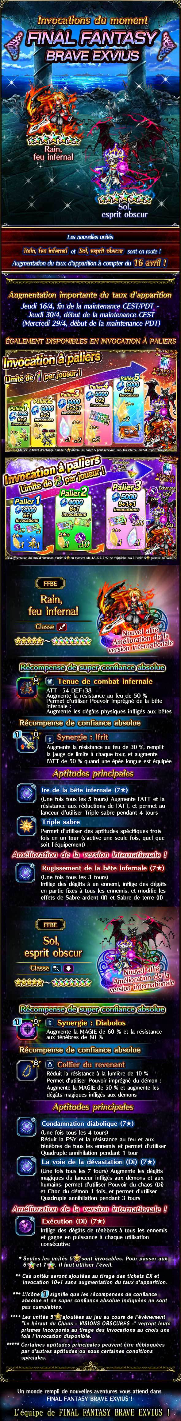 Invocations du moment, boutique d'échange, tickets 5★ garantie et tickets d'échange - FFBE (IFRain/DSSol) - du 16/04 au 30/04/20 20200414IFRainDSolFeaturedSummon