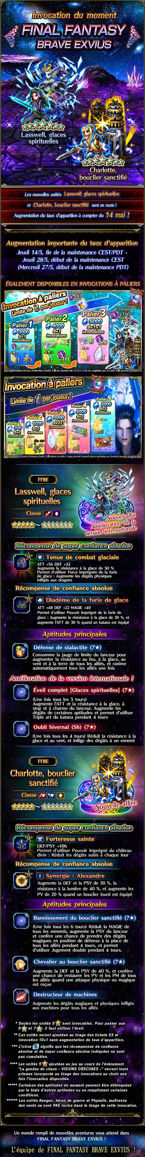 Invocations du moment, boutique d'échange, tickets 5★ garantie et tickets d'échange - FFBE (MILasswell/HACharlotte) - du 14/05 au 28/05/20 20200512MILasswellHACharlotteFeaturedSummonv2