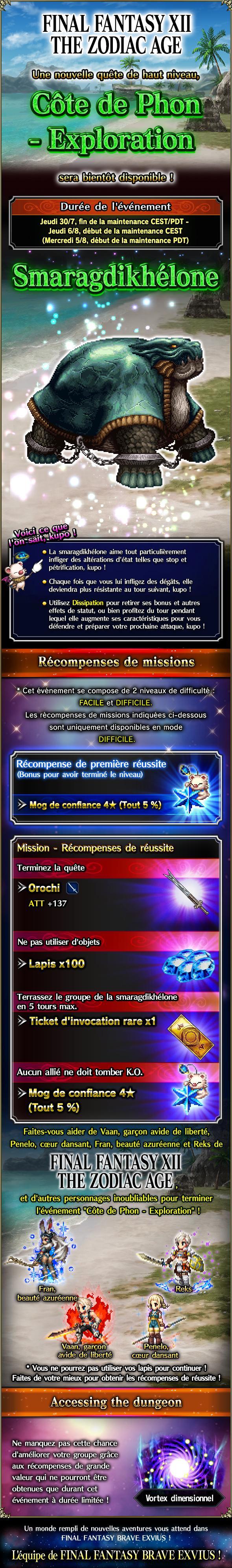 Trial MK FFXII-TZA - Côte de Phon (Exploration) - du 30/07 au 13/08/20 20200728FFXIITZAThePhonCoastExploration
