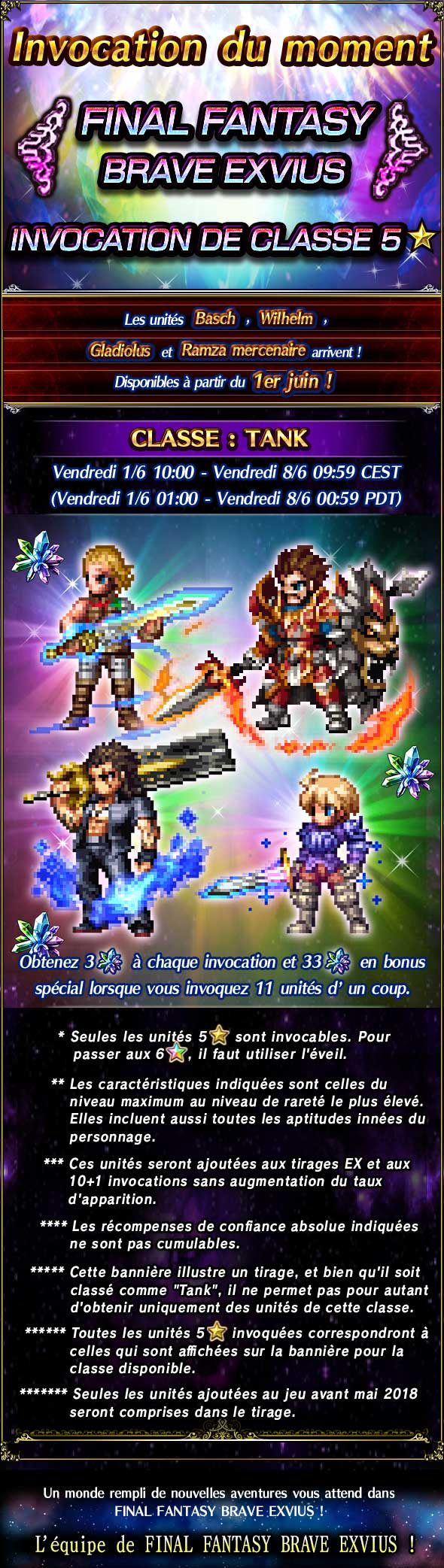 Invocations du moment - FFBE - Type Tank FFBE5starsTS
