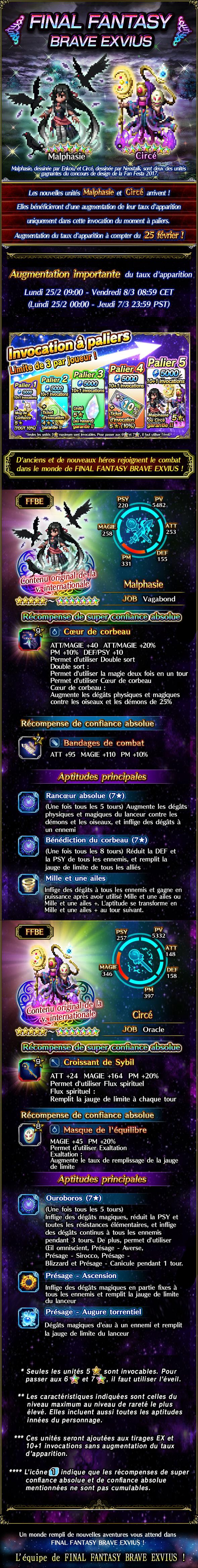 Invocations du moment - FFBE (Malphasie/Circé) - du 25/02 au 08/03/19 FanFestaMalphGachaSummonRerun