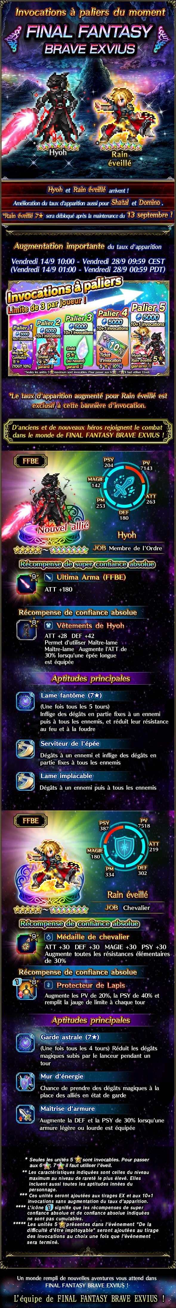 Invocation a paliers du moment - FFBE (Hyoh/ARain) HyohStepUp